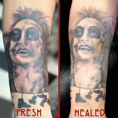 Tattoo, Best Tattoo, Colchester, Essex, Tattoo art, Tattoo Artist, Tattoos, Tattoo design, Top Tattoo, Black & grey Tattoo, reds tattoo, sonya trusty, essex tattoo, colchester, realism tattoo, beetlejuice tattoo, micheal keaton