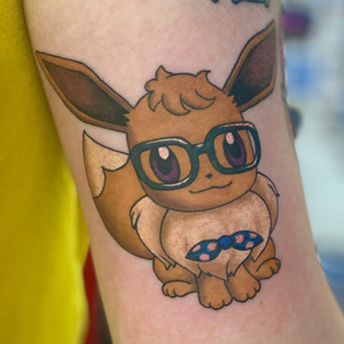 Tattoo, Best Tattoo, Colchester, Essex, Tattoo art, Tattoo Artist, Tattoos, Tattoo design, Top Tattoo, Colour Tattoo, reds tattoo, anna kowacka, essex tattoo, colchester, tattoo ideas, pokemon, pokemon tattoo, anime tattoo, eevee tattoo, eevee pokemon
