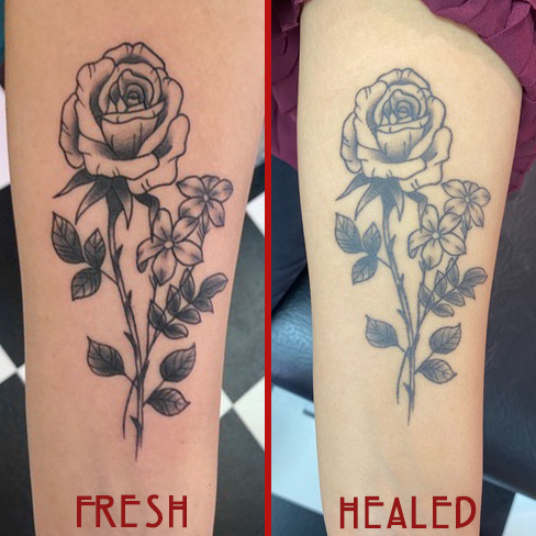 Tattoo, Best Tattoo, Colchester, Essex, Tattoo art, Tattoo Artist, Tattoos, Tattoo design, Top Tattoo, Black & grey Tattoo, reds tattoo, anna kowacka , essex tattoo, colchester, black & grey, flower tattoo, rose tattoo, rose, flower, fresh tattoo, healed tattoo, fresh vs healed