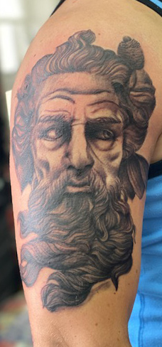 Tattoo, Best Tattoo, Colchester, Essex, Tattoo art, Tattoo Artist, Tattoos, Tattoo design, Top Tattoo, Black & grey Tattoo, reds tattoo, sonya trusty, essex tattoo, colchester, realism tattoo, zeus, greek tattoo, greek mythology, realistic tattoo, realism , portrait tattoo