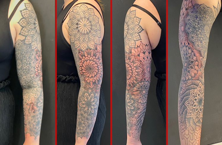 Tattoo, Best Tattoo, Colchester, Essex, Tattoo art, Tattoo Artist, Tattoos, Tattoo design, Top Tattoo, Black & grey Tattoo, reds tattoo, sonya trusty, essex tattoo, colchester, mandala, full sleeve, full sleeve female, mandala tattoo, stippling tattoo , dotwork tattoo