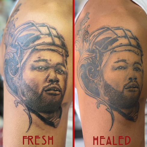 Tattoo, Best Tattoo, Colchester, Essex, Tattoo art, Tattoo Artist, Tattoos, Tattoo design, Top Tattoo, Black & grey Tattoo, reds tattoo, sonya trusty, essex tattoo, colchester, realism tattoo, nfl, micheal oher, realistic tattoo, realism, portrait tattoo